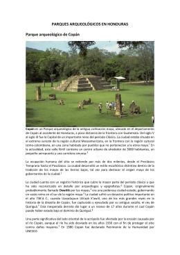 parques y sitios arqueológicos en honduras