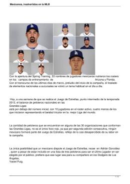 Mexicanos, inadvertidos en la MLB