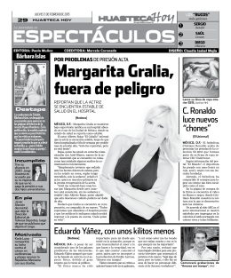 Margarita gralia, fuera de peligro