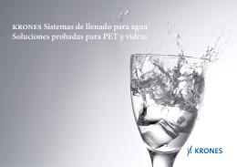 Krones Sistemas de llenado para agua Soluciones probadas para
