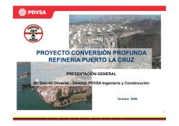 proyecto conversión profunda refineria puerto la cruz