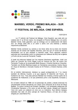 5º NOTA PREMIO MÁLAGA MARIBEL VERDU