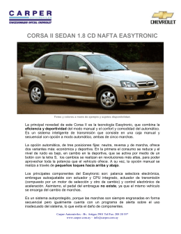CORSA II SEDAN 1.8 CD NAFTA EASYTRONIC