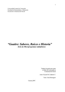 guatire... saberes, raíces e historia - Saber UCV