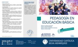 PEDAGOGÍA EN EDUCACIÓN BÁSICA - Universidad Católica Silva