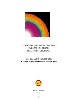 Un Modelo Hidrodinámico de la Tacoclina Solar
