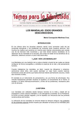 LOS MANDALAS: ESOS GRANDES DESCONOCIDOS.