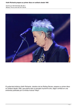 Keith Richards prepara su primer disco en solitario desde