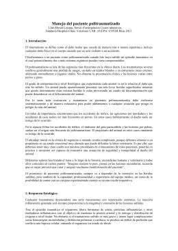 Manejo del Paciente Politraumatizado AVEPA Ibiza 2013