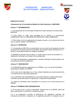 FEDERACIÓN MADRILEÑA DE ACTIVIDADES SUBACUÁTICAS
