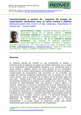 Caracterización y control de especies de pulgas de