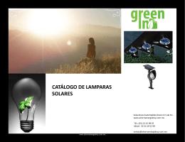 CATÁLOGO DE LAMPARAS SOLARES