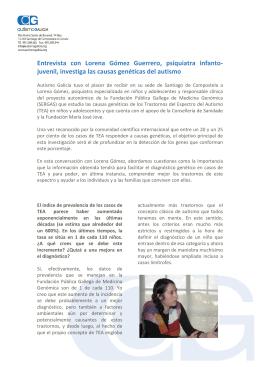 Entrevista con Lorena Gómez Guerrero, psiquiatra infanto