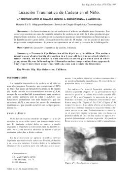 Luxación Traumática de Cadera en el Niño.