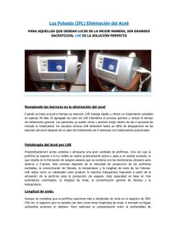 Luz Pulsada (IPL) Eliminación del Acné
