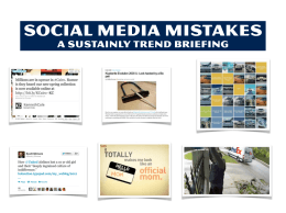 Sustainly Social Media Mistakes
