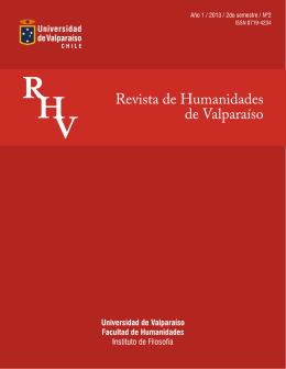 RHV N2 verion online - Revista de Humanidades de Valparaíso