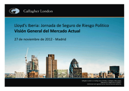 (Microsoft PowerPoint - Lloyd`s CoB Madrid 27Nov12 FINAL \(espa