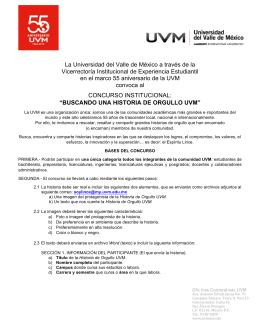 Bases del concurso - Universidad del Valle de México