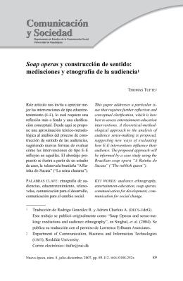 Soap operas y construcción de sentido: mediaciones y etnografía de