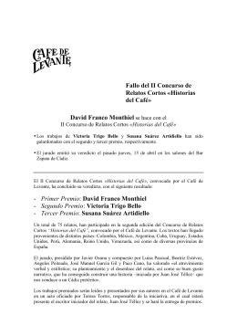 NOTA DE PRENSA II CONCURSO HISTORIAS