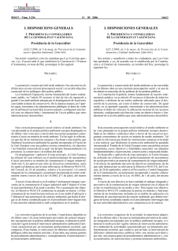 Llei 2/2006, de 5 de maig, de Prevenció de la Contaminació i