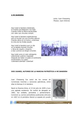 A MI BANDERA Letra: Juan Chassaing Música
