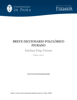 breve diccionario folclórico piurano - Pirhua