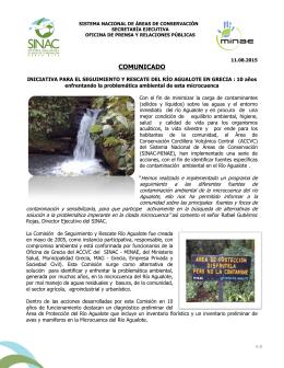 iniciativa para el seguimiento y rescate del río agualote en grecia