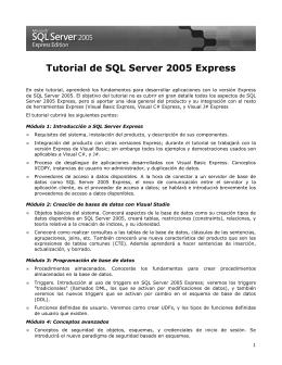 Tutorial de SQL Server 2005 Express