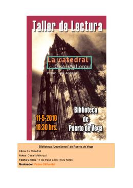 """Biblioteca """"Jovellanos"""" de Puerto de Vega Libro: La Catedral Autor"""
