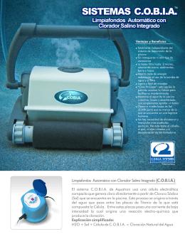 Limpiafondos Automático con Clorador Salino Integrado (C.O.B.I.A.)