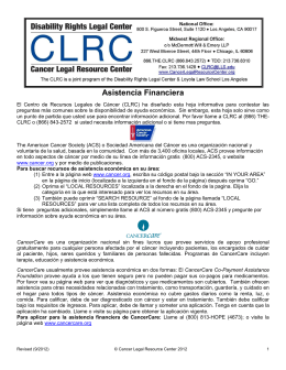 Asistencia Financiera - Disability Rights Legal Center