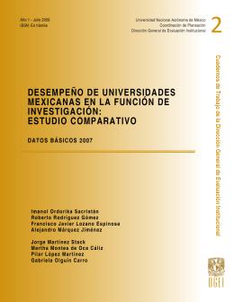 Desempeño de Universidades Mexicanas en la Función de