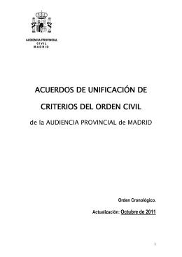 acuerdos de unificación de criterios del orden civil