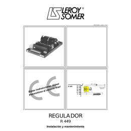 REGULADOR - Leroy Somer