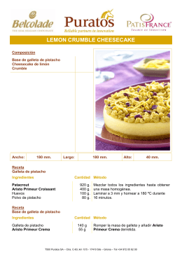 LEMON CRUMBLE CHEESECAKE