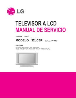TELEVISOR A LCD MANUAL DE SERVICIO