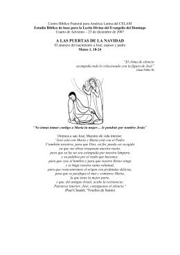 IV Domingo de Adviento, Ciclo A. San Mateo 1, 18-24