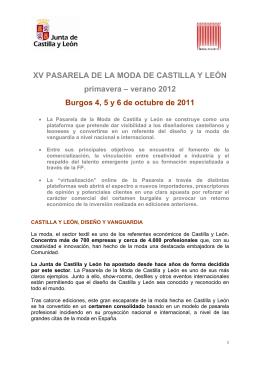 XV PASARELA DE LA MODA DE CASTILLA Y LEÓN primavera