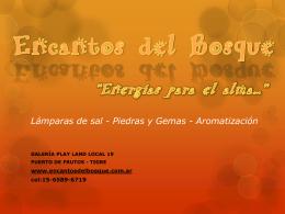 """Encantos del Bosque """"Energías para el alma…"""""""