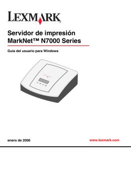 Servidor de impresión MarkNet™ N7000 Series