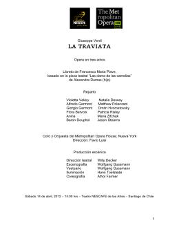 LA TRAVIATA - Teatro Nescafé de las Artes