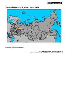 Mapa de la Provincia de Kírov - Kírov, Rusia