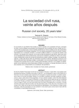 La sociedad civil rusa, veinte años después