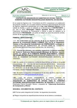 Contratos 2012 - GAD de Sigchos