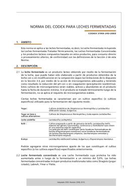 Leches Fermentadas - CODEX Alimentarius