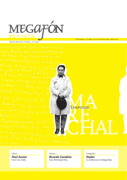 Ricardo Garabito Nadar Paul Auster - Revista Megafón 2006-2009