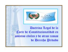 Doctrina Legal de la Corte de Constitucionalidad en asuntos civiles