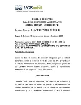 CONSEJO DE ESTADO SALA DE LO CONTENCIOSO